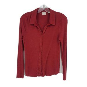 Anthropologie Post Mark button front Blouse Small